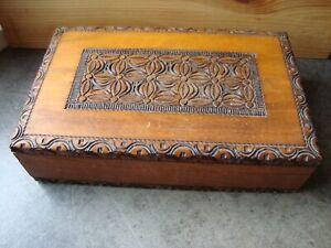 Medium Sized Decorated Wooden Box