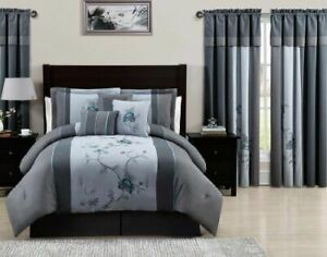 Chezmoi Collection Embroidery Bedding Set, Full