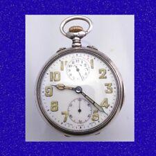 WW1 splendidi Argento Swiss Zenith 15 Gioiello Orologio da taschino Trench d'allarme 1914