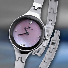 TAVAN FAYE SWISS LADIES MOP SS QUARTZ WATCH NEW DIAMOND