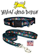 Yellow Dog Design Collar or Leash - Merry Christmas Gift - XS S M L - USA Made