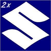 Suzuki S Logo Gloss White 600 decals 750 stickers 450 gsxr 250 rm 1000 gsxs1100