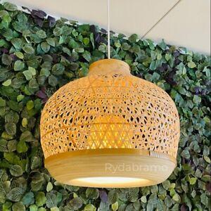 "IKEA MISTERHULT Pendant lamp, bamboo/handmade 18 "" BRAND NEW"