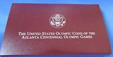 1996 USA OLYMPIC SILVER PROOF DOLLAR  ** ATLANTA CENTENNIAL **  PRESENTATION BOX