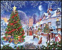 Village Christmas Tree - DIY Chart Counted Cross Stitch Patterns Needlework DMC