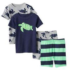 Schlafanzug~USA~CARTERS~4 tlg~80-86~Pajama~Nachtwäsche~kurz~Schildkröte~Baumwoll