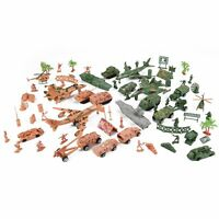 Deluxe Action Figures Army Men Soldier Military Playset with Scaled Vehicles (73