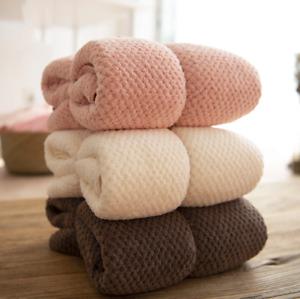 Microfiber bath towel set, solid color hand towels