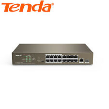 Tenda 19-port 10/100Mbps 16 Port Fast PoE Switch CCTV Cameras No Configuration
