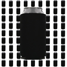 Black Beverage Insulators Can Coolers Lot of 10 Blank Drink Sleeves