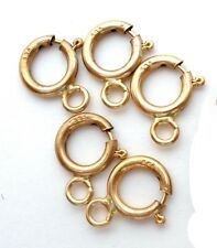 14K Yellow Gold 5.5 mm Clasp New Jewelry Lot of 5 Round Hallmarked 585
