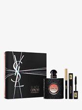 YSL BLACK OPIUM Gift Set, 50ml EDP Spray + 2ml Mascara + 0.8g Eye Pencil