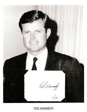 Ted Kennedy Autograph Senator Massachusetts John Robert JFK Harvard College #2