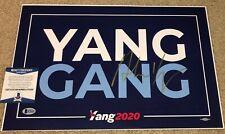 ANDREW YANG SIGNED CAMPAIGN POSTER 2020 PRESIDENT DEMOCRATS YANG GANG MATH BAS