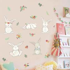 New Bunny Rabbit Stickers Bunnies Wall Glass Door Vinyl Wall Decals 50*70cm