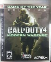 PS3 Call Of Duty 4 Modern Warfare For PlayStation 3 COD Very Good