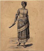 Borneo 19th Century of the Lsle Koti Engraving 14cm x 16cm