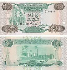 Libyen / LIBYA - 1/4 Dinar 1984 UNC - Pick 47, Serie 3