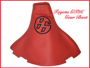 Toyota 86 Scion FR-S Red Leather Shift Boot New