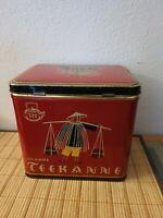 Schöne alte, große Blechdose - Teekanne Düsseldorf - Teedose, vintage, Dose, Tee