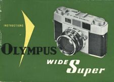 Olympus Wide Super Instruction Manual original