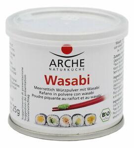 (25,96 EUR/100 g) Arche Wasabi Meerrettich Würzpulver vegan bio 25 g Dose
