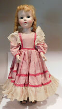 "Vintage 20"" Hard Plastic Head Turning Walker Nanette Arranbee R&B Doll"