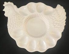 Thanksgiving Turkey Egg Plate White