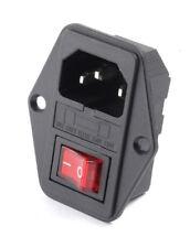 Kaltgerätebuchse Stecker IEC C14 Einbau mit Sicherung & Schalter beleuc… [#1300]