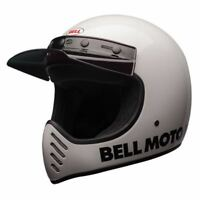 CASQUE INTEGRAL BELL MOTO-3 CLASSIC WHITE CHOIX TAILLE XS / XXL