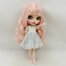"""Takara 12"""" Nude Blythe Doll from Factory pink wave long hair free shipping SALE"""