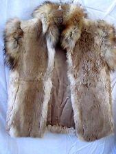 Small/Medium Neiman-Marcus Super Chic Custom Made Front Zip Fur Vest By Niki