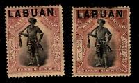 Labuan - SG# 89 & 89b MHH (rem)    -    Lot 1020402