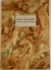 Peter Altenberg, Widmungsexemplare, Literatur,