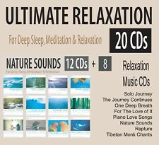 20 Deep Sleep Mediation & Relaxation CDs -12 Nature Sounds +8 Relaxing Piano NEW