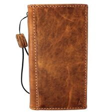 Genuine leather Case fo apple iphone x book soft wallet hand made Rustic cover