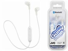 JVC Gumy Wireless Bluetooth 3 Button Remote & Mic Headphones In Ear White SEALED