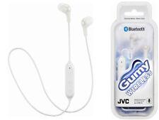 JVC gomoso Inalámbrico Bluetooth 3 botón control remoto y micrófono auriculares de oído Blanco Sellado