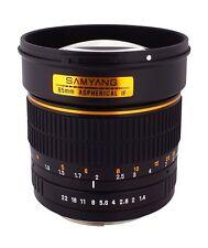 New Samyang 85mm F1.4 Aspherical Lens for SLR & DSLR CAMERAS with Case