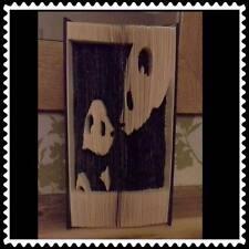 Mum And Baby Pandas. Folded Book Art Folding PATTERN ONLY #1232