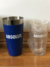 NIB ABSOLUT Boston Shaker Set Pint Glass Barwear