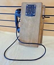 Antique WALL TELEPHONE Wooden Box with Bell and all Internal Parts (TH1468)