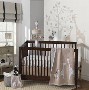 Lambs & Ivy Elias 4 Piece Baby Nursery Crib Bedding Set with Bumper NEW