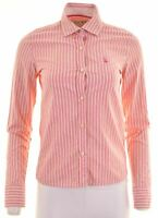 JACK WILLS Womens Shirt Size 8 Small Pink Striped Cotton  EX09
