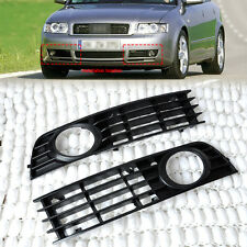 2x Front Left&Right Lower Bumper Fog Light Grille Cover For 2002-2005 Audi A4 B6