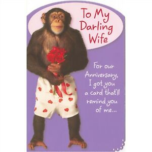 AG Funny Anniversary Card: Wife...I Got a Card That Will Remind You of Me...