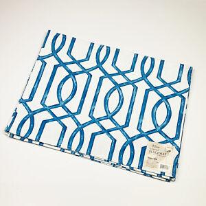 Benson Mills Elise Cobalt Blue Geometric Spillproof Placemats Set of 4
