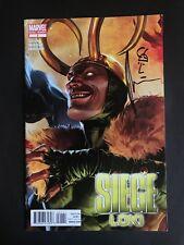 Siege Loki Signed Sketched Kieron Gillen Marvel Comics VF/NM COA