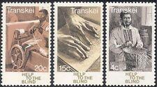 Transkei 1977 Health/Medical/Blind/Braille/Disabled/Spinning 3v set (n26208)