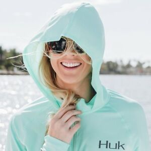 HUK Ladies Icon Hoodie Long Sleeve Shirt--Pick Color/Size-Free Shipping